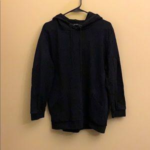 All Saints black paneled hoodie